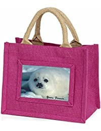 Snow Seal 'Yours Forever' Little Girls Small Pink Shopping Bag Christmas Gift