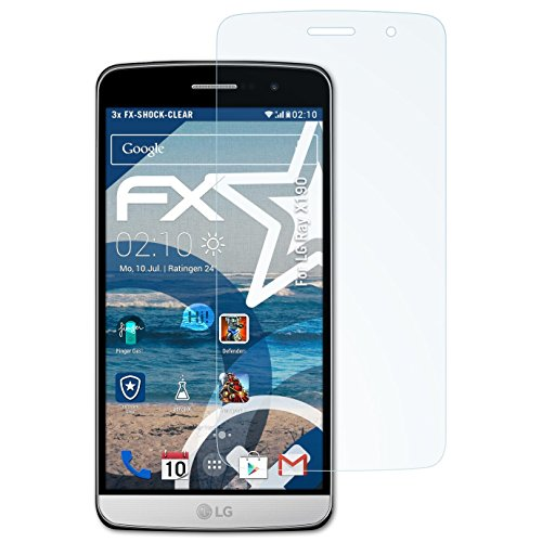 atFolix Schutzfolie kompatibel mit LG Ray X190 / Zone Panzerfolie, ultraklare & stoßdämpfende FX Folie (3X)
