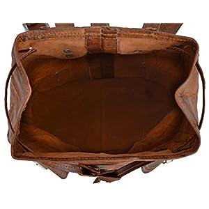 51zf6yF u8L. SS300  - Gusti Bolso Mochila Cuero - Lena Mujer Vintage Bolsa de Viaje