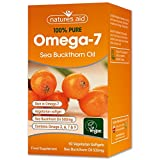 Natures Aid 100% Pure Omega-7 Sea Buckthorn Oil 500mg 60 Vegetarian Softgels