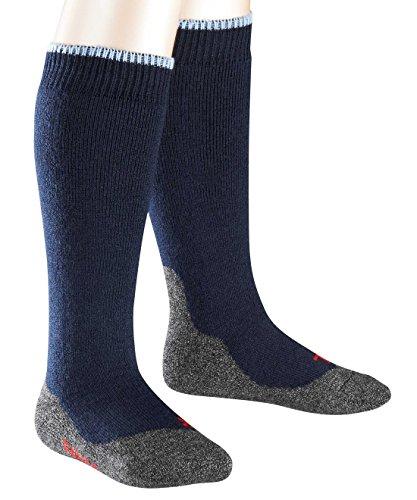 FALKE Unisex - Kinder Kniestrümpfe 11480 Active Warm+ KH, Gr. 23/26 ,Blau(marine 6120) (Kind Socken Warm)