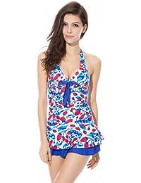 Ivy Shi Damen Einteiler Strandkleid