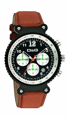 D&G Dolce & Gabbana DW0304 - Orologio da polso da uomo, cinturino in pelle colore marrone