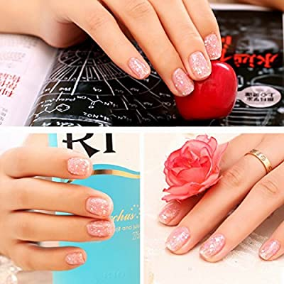 Gellen Brand Snowflakes Nail Polish 12ml Nail Art Soak Off Gel Nail Polish Glitter Color#1