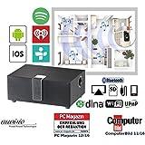 Auvisio Wi-Fi Multi Room de altavoz con Subwoofer, BT, AirPlay, 80W, Negro