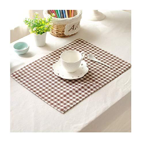 Plaid Placemat Western Stoff Baumwolle Doppelschicht Tischset Serviette Food Fotografie Prop waschbar (Color : A, Size : 15.7in*11.8in) ()