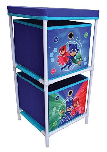 FUN HOUSE 712932 Etagère 2 casiers pour Enfant, PP/Carton, Bleu, 29,5 x 29 x 58,5 cm