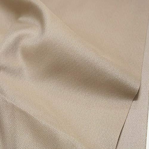 TOLKO Deko-Stoffe Meterware als Gardinen- und Vorhang-Stoff in Beige   Breite: 250 cm, für preiswerte Gardine, Vorhang, Sonnenschutz, Beschattung, zum Nähen