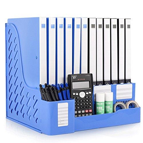 Suministros de oficina Marco de archivos Engrosamiento Cuádruple Marco de archivos Marco de datos Archivo Cesta Recibo ( Color : Blue )