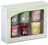 Yankee Candle, set regalo di 6 candele della linea Home Inspiration, fragranze floreali e fruttate