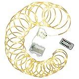 10 m Mini-Lichterschlauch 100 LED warm weiß gefrostet 8 Funktionen Timer Batterie Fernbedienung außen dimmbar Weihnachtsdeko Partydeko Festdeko