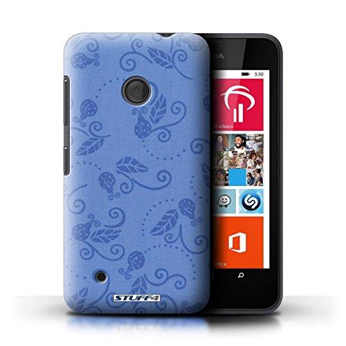 Kobalt® Imprimé Etui / Coque pour Nokia Lumia 530 / Rouge conception / Série Motif Coccinelle Bleu