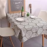 Mantel de lino cuadrado Patrón Casa patrón decorativo mantel , D , 70*70cm