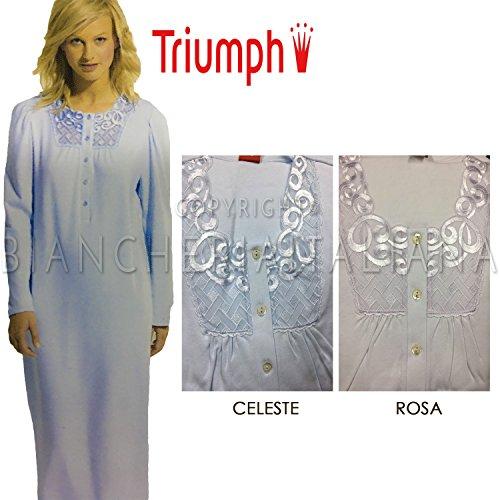 Triumph Camicia Notte Maglia in Caldo Cotone TIMELESS Celeste