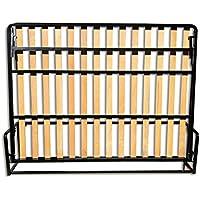 Wallbedking Cama De Matrimonio Abatible Horizontal 150 x 200 cm (Cama Doble Estilo Murphy Bed
