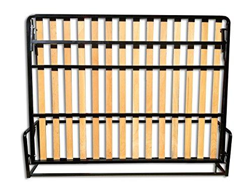 Cama De Matrimonio Abatible Horizontal 135 x 190 cm (cama doble estilo Murphy Bed, cama plegable, sofá cama, mueble cama oculta).
