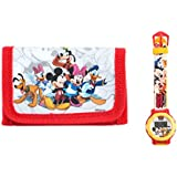 Mickey Mouse - Set de reloj digital y monedero (Kids WD10407)