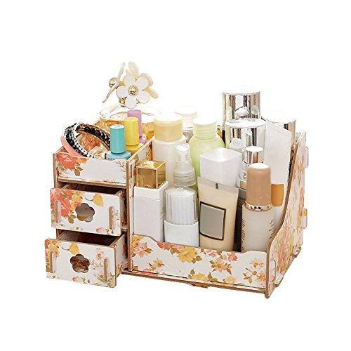 Espeedy Caja de almacenamiento,Contenedor de caja de almacenamiento de caja de almacenamiento de madera multifuncional contenedor Contenedor de bricolaje caja de organizador de joyería cosmética