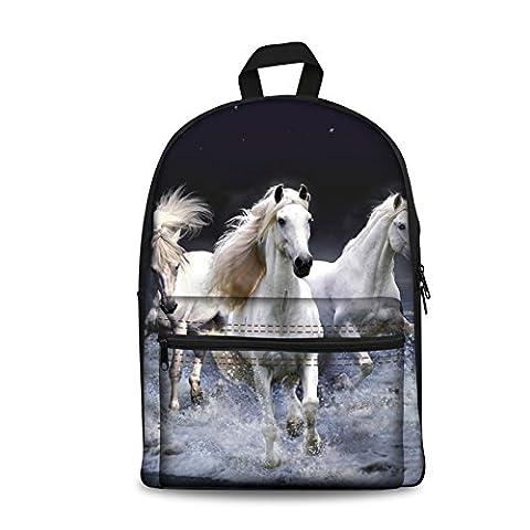 CHAQLIN Cartable, horse pattern-5 (gris) - CHAQLIN