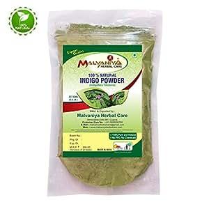 Malvaniya Herbal Care Indigo Leaves Powder Indigofera Tinctoria 100% Natural Hair Dye -227 Grams
