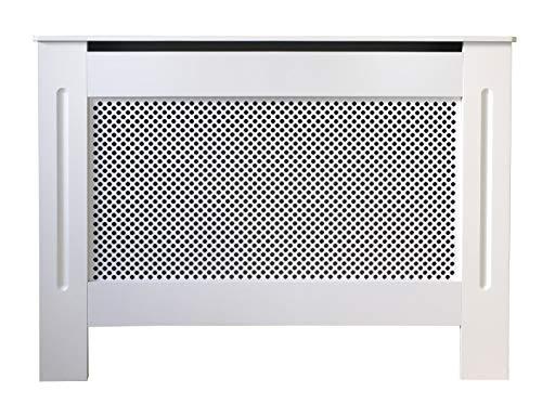 Jack stonehouse verniciato bianco tradizionale in legno mdf radiatore copertura cabinet con croce diamond design–mini