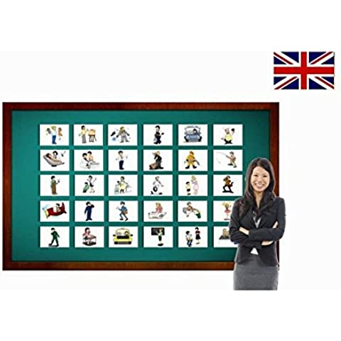 Carte illlustrate educativi - Flashcard lingua inglese - Occupations and Jobs Flashcards