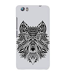 Fiobs Designer Back Case Cover for Micromax Canvas Fire 4 A107 (Dog Face Mask Art Symbol)