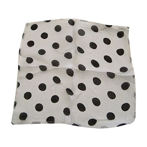 M&Ms MMS Spotted Seide 22,9cm weiß mit schwarzen Punkten von Uday