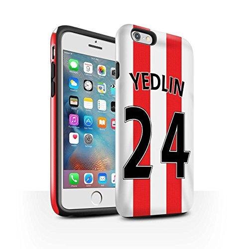 Offiziell Sunderland AFC Hülle / Glanz Harten Stoßfest Case für Apple iPhone 6S+/Plus / Pack 24pcs Muster / SAFC Trikot Home 15/16 Kollektion Yedlin
