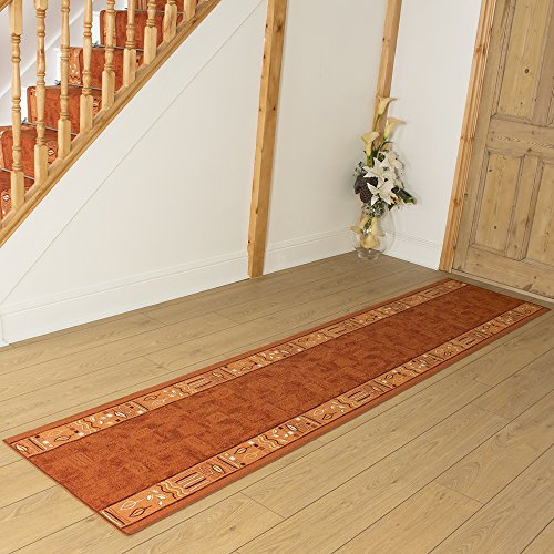 Ramses Terracotta - Long Hall & Stair Carpet Runner