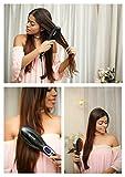 Lifelong HSB01 Ceramic Hair Straightener Brush with Temperature Control (Black)