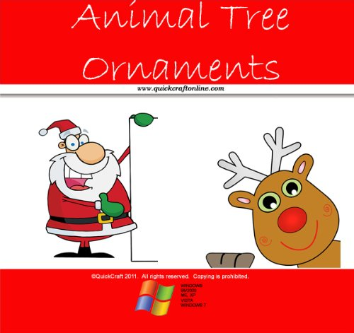 Christmas Craft Kids Cute Animal Tree Ornaments (QuickCraft) (English Edition) (For Ornament Kids Crafts)