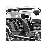 DBS 19355 Fundas de asientos de Coche - A Medida - Acabado de coche de alta gama - Instalación rápida - Compatible Airbag - Isofix