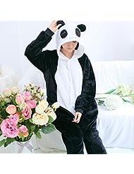 Unisex Pijamas para Adultos - Peluche de una Pieza Cosplay Animal Traje de Invierno,Panda,S