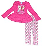 Frozen Little Girls 2 St¨¹ck Kleid Legging Set Anna und Elsa Strong Bond Pink (6)