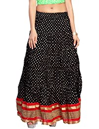 Carrel Cotton Fabric Women Printed Long Skirt(AGSPL-3131-YJE-SK)