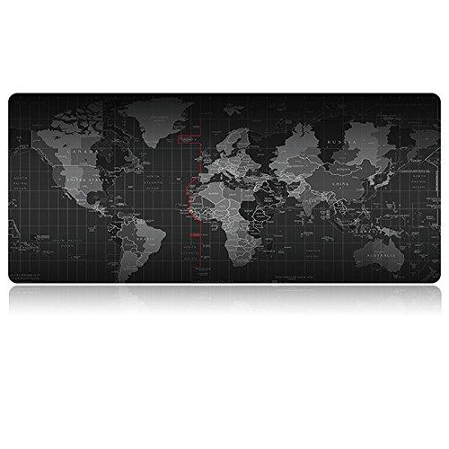 Weltkarte Maus groß aus Gummi Gaming Maus Pad, hoyoo, Schlösser Edge Computer Tastatur Pad Spiel, Tablet Maus Pad Mauspad, Mauspad für Gamer, 80*30cm (Etwas Für 8 Dollar)
