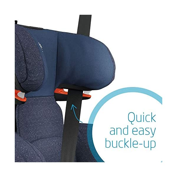 Maxi-Cosi RodiFix AirProtect Child Car Seat, ISOFIX Booster Seat, Extra Protection, 3.5-12 Years, 15-36 kg, Sparkling Blue Maxi-Cosi Outstanding side impact protection - with the combination of patented air protect technology Patented air protect technology in headrest - the risk of head and neck injuries are reduced up to 20% Quick and easy to buckle your child up with the 'easy-glide' system and clear belt routing 5