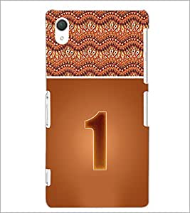 PrintDhaba Numerology Number 1 D-3633 Back Case Cover for SONY XPERIA Z2 (Multi-Coloured)