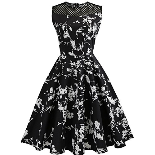 hingsball kleider Vintage karneval Party Kleid Damen 50s Retro Vintage Rockabilly Kleid Partykleider Cocktailkleider (M&m Party Kleid Grün Erwachsene Damen Kostüme)