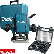 """Makita RP0900X Heavy Duty 1/4 or 3/8"""" Plunge Router 110V + Trend 12Pc Cutter Set"""