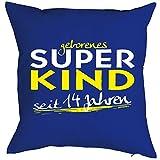 Geburtstagsgeschenk für Kinder Kissen mit Füllung geborenes Super Kind seit