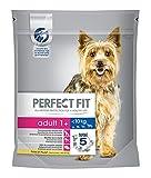 Perfect Fit Hundefutter Trockenfutter Adult für kleine Hunde <10kg 1+ reich an Huhn, 5 Beutel (5 x 825g)