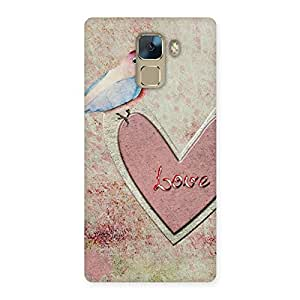 Gorgeous Bird On Heart Print Back Case Cover for Huawei Honor 7