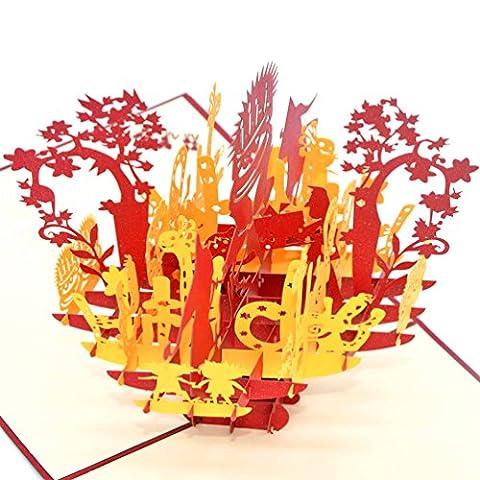 medigy 3D pop up Cards Carte d'anniversaire Inscription Happy Birthday d'anniversaire fête d'anniversaire forme