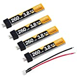 Crazepony 4stücke 260mAh HV 1S Lipo Batterie 30C 3,8V für Tiny Whoop Klinge Inductrix JST-PH 2,0 Powerwhoop Stecker