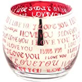 Imperial Gifts Glass Tealight Candle Holder (7 Cm X 8 Cm X 8 Cm, Red, IGRS 62)