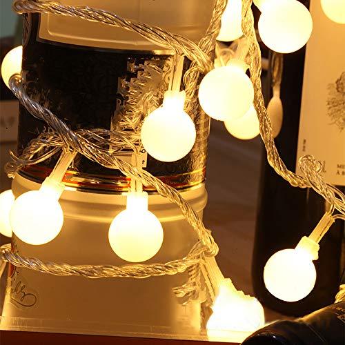 Deep lovly Weihnachten Dekoration 1,2 m LED Ball Dekorative Lichterkette Lena Weihnachtsdeko Miniatur Glasfaserlichtern Weihnachtsdekoration Beleuchtung -