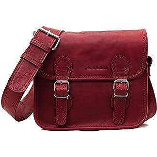 LA SACOCHE BORDEAUX (S) Bolso bandolera de piel (tamaño pequeño, estilo vintage), color burdeos, estilo vintage PAUL MARIUS Vintage & Retro