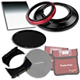 WonderPana 66 FreeArc Esencial ND 0, 9 hy Kit - base giratoria filtro de 145 mm, tapa del objetivo, Fotodiox Pro 16,76 cm x 21,59 cm 0,9 (3-stop) x 145 mm Grad ND y ND16 (4 pasos ) filtros para Olympus 7-14 mm f / 4.0 lente Zuiko ED zoom (om-4/3 formato)